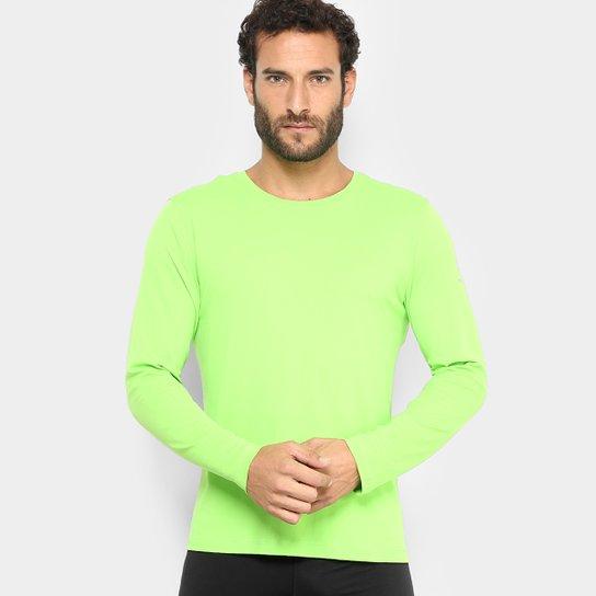 7484a4e53 Camiseta Fila Basic Com Proteção UV Manga Longa Masculina - Verde ...