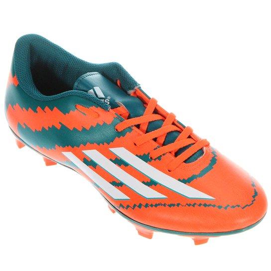 06e3dd955cb03 Chuteira Adidas F5 FG Campo Messi - Laranja+Verde ...