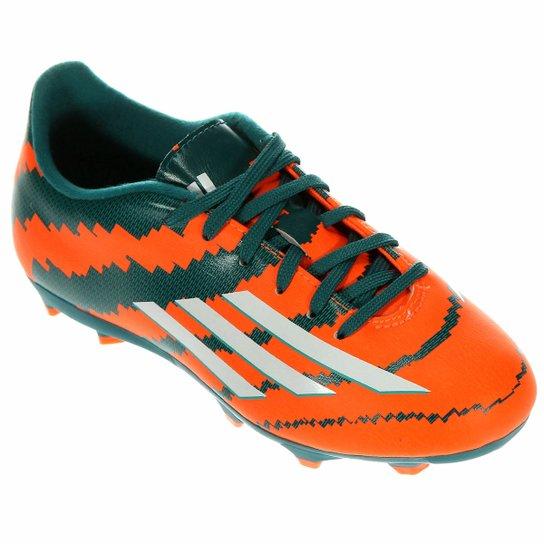 Chuteira Adidas F10 FG Campo Messi Infantil - Compre Agora  7a8ca7795974d