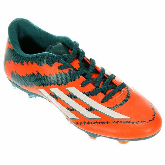 3fb0a01157 Chuteira Adidas F10 FG Campo Messi - Laranja+Verde