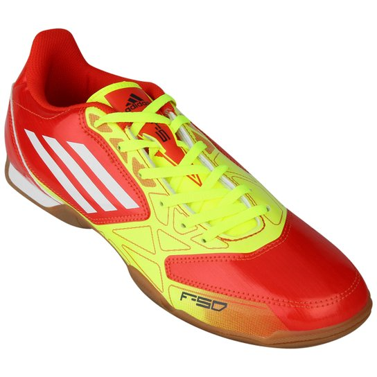 3a04f7caa6 Chuteira Futsal Adidas F5 IN Masculina - Vermelho+Branco