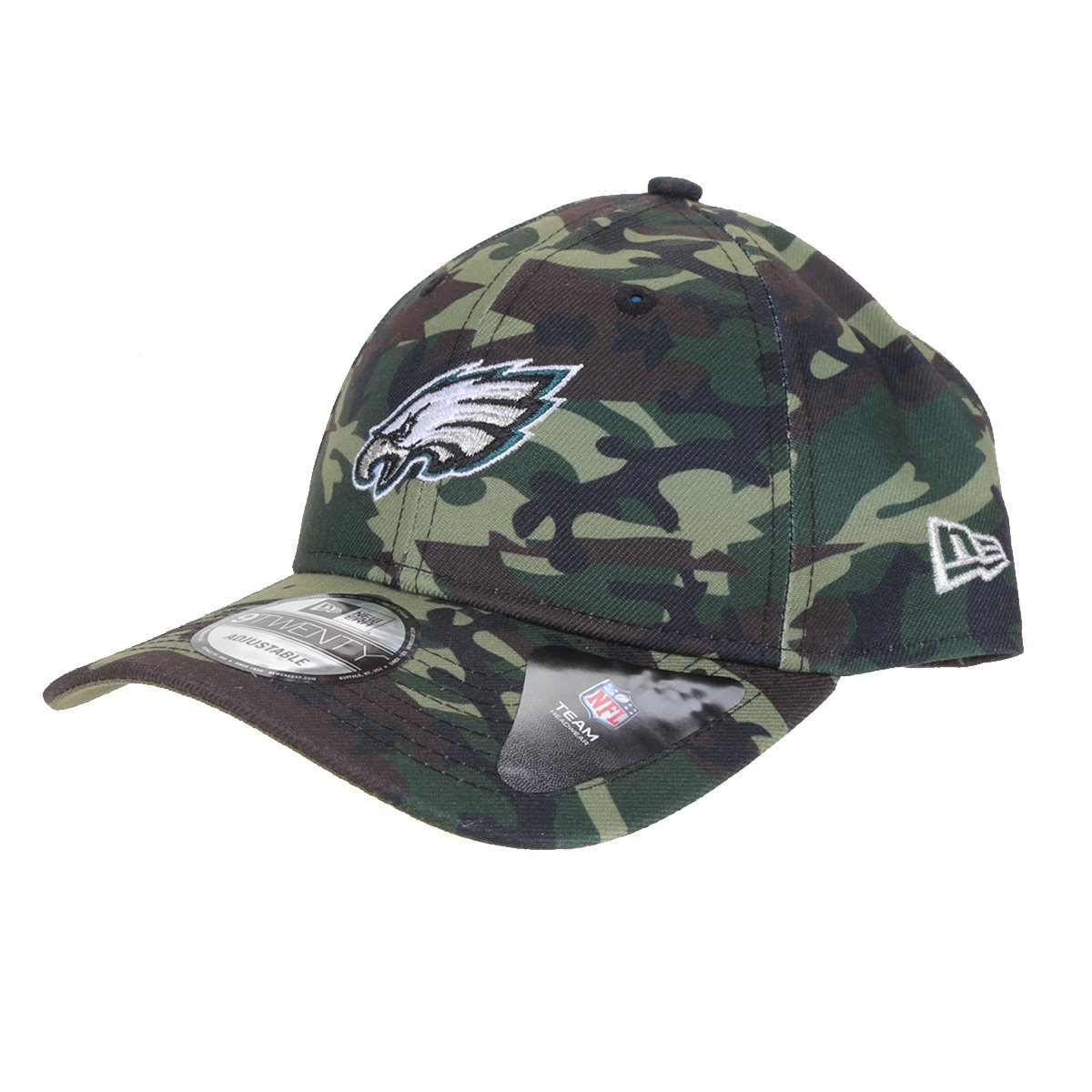Boné New Era NFL Philadelphia Eagles Aba Curva Strapback Military Full Print 9Twenty