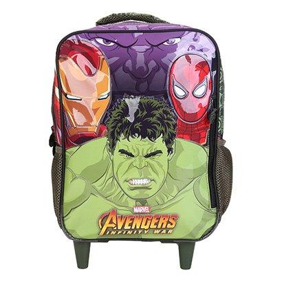 Mochila de Rodinha Infantil Avengers Brawler