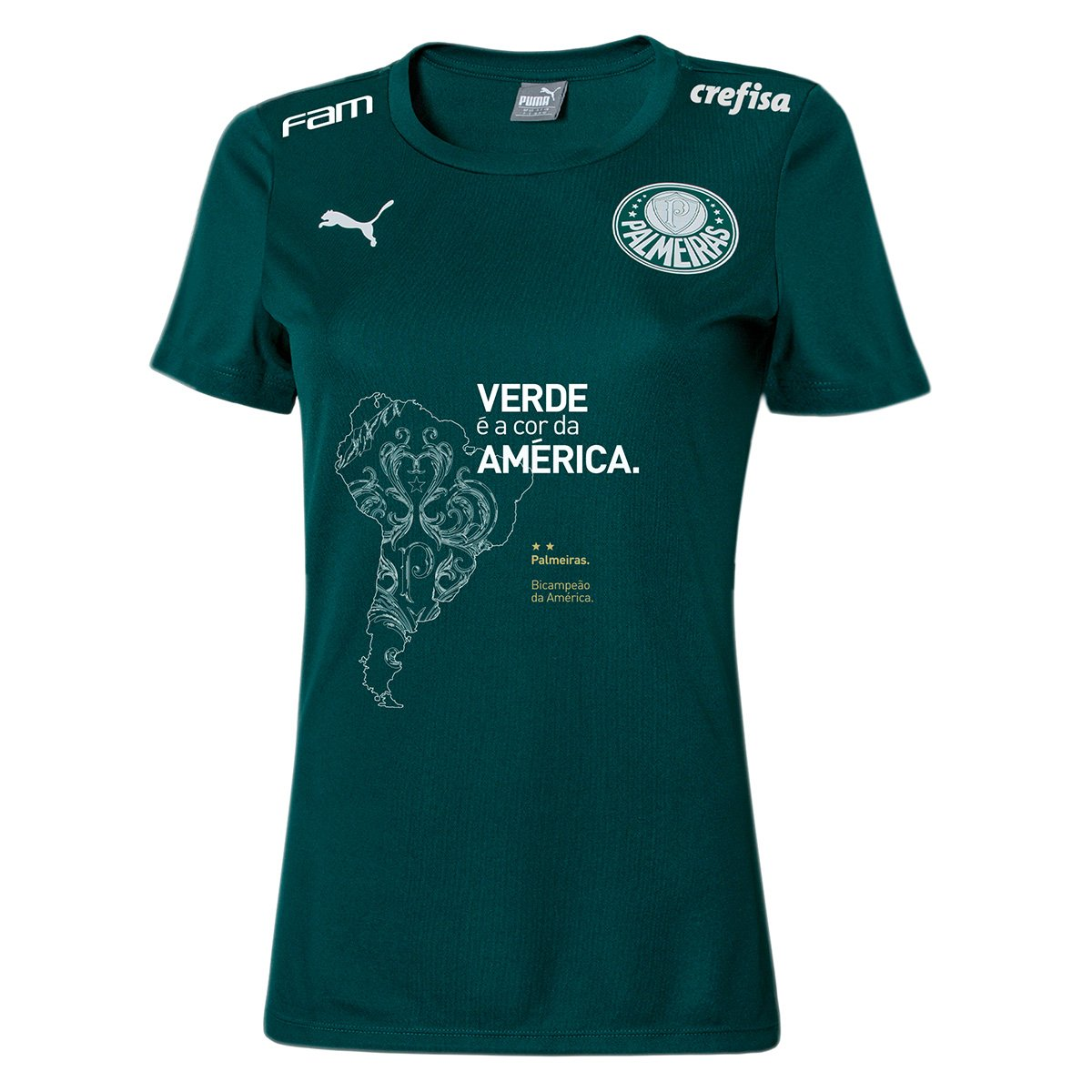 Pré-Venda Camiseta Palmeiras Puma Bi Libertadores - Edição Limitada Feminina