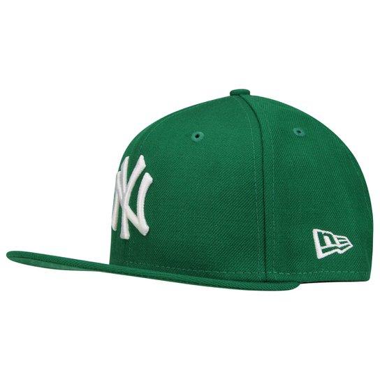 4b4e358fcc2d0 Boné New Era 5950 New York Yankees - Verde - Compre Agora