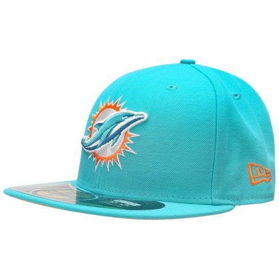 Boné New Era 5950 NFL On Field Miami Dolphins TC - Compre Agora ... 38bccc0b16c