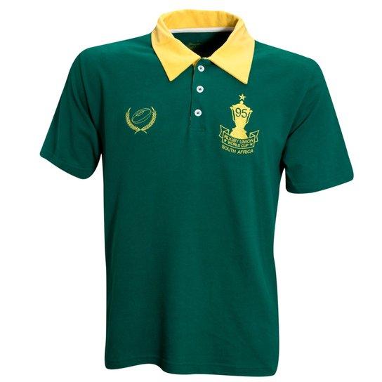 5767a84332 Camisa Liga Retrô Africa do Sul 95 Rugby - Verde