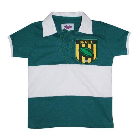 Camiseta Liga Retrô Brasil Rugby Infantil - Verde - Compre Agora ... a7b74a23f5d2b