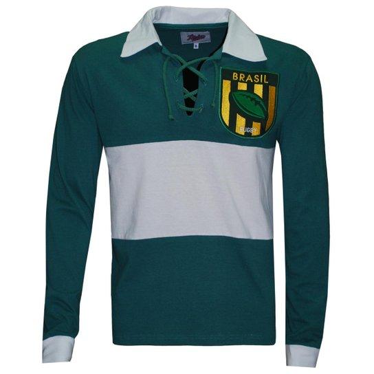 Camiseta Liga Retrô Brasil Rugby Longa - Verde - Compre Agora  3ae2cd7a29636