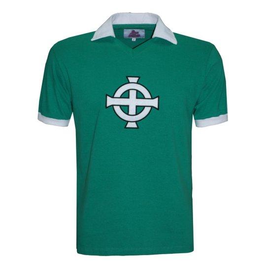 dfdef0f1c1 Camisa Polo Liga Retrô Irlanda do Norte 1978 Masculina - Verde ...