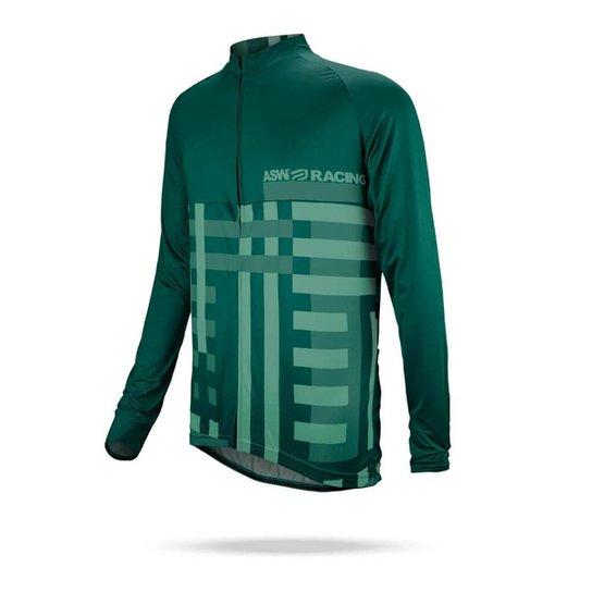 Camisa Manga Longa ASW Fun Frame Masculina - Verde - Compre Agora ... 9b04bc83e2d