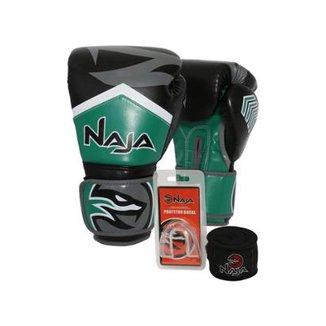 1e4c1b5d3f7 Kit Boxe Muay Thai - Luva New Extreme + Bandagem