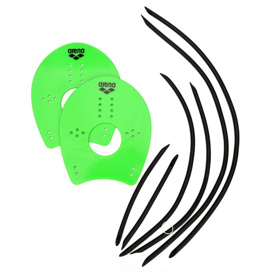 bf71889ab44 Palmar Para Natação Arena Modelo Elite Hand - Verde claro - Compre ...