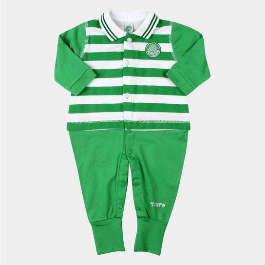 Macacão Palmeiras Infantil Listras - Verde - Compre Agora  1d117b8b312dc