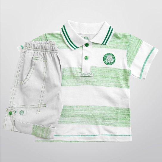 227266f08f Conjunto Palmeiras Camisa Polo e Bermuda Infantil - Compre Agora ...