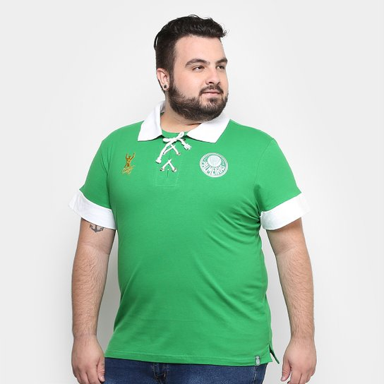 1d93d700e6 Camisa Polo Palmeiras Marcos Retrô Alviverde Masculina - Compre ...