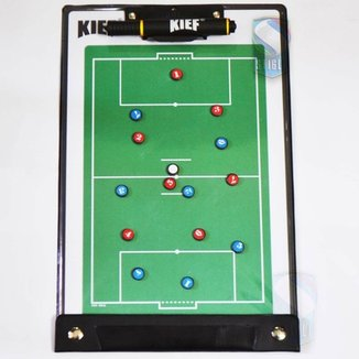 Prancheta Tática Magnética Futebol Society Kief - Imã Caneta 75ebaa1b50384