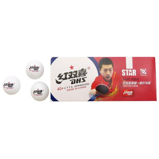 67804ab3d Bola de Tênis de Mesa DHS 1 Plástico - cx c  10 bolas - Incolor ...