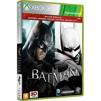 BATMAN ARKHAM ASYLUM + BATMAN ARKHAM CITY XBOX 360
