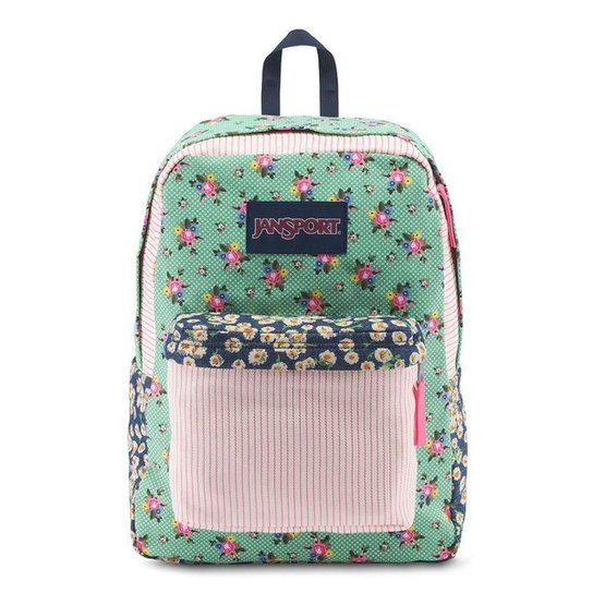 Mochila Jansport High Stakes Ditzy Patchwork Verde Rosa - Incolor ... 16b0a5a56c143