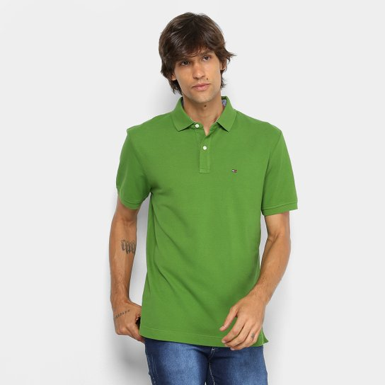 1dc940decd Camisa Polo Tommy Hilfiger Masculina - Verde