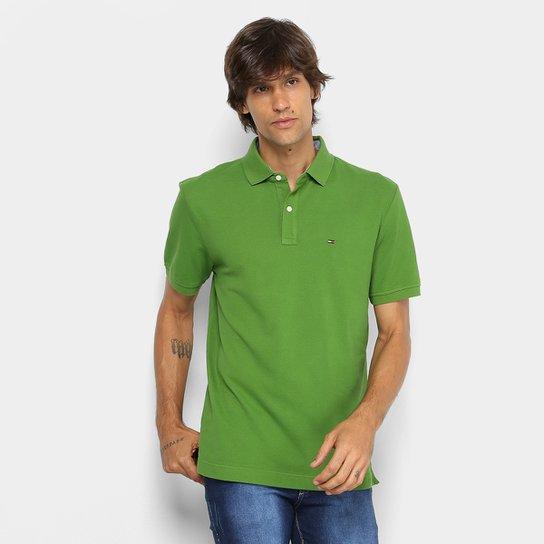 c3edddb27e Camisa Polo Tommy Hilfiger Masculina - Verde - Compre Agora