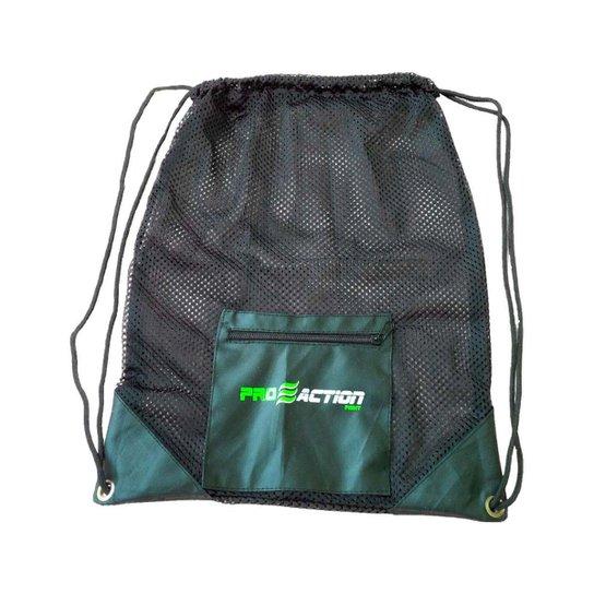 Bolsa Gym Mesh em Material Resistente e Durável 35x45cm Proaction G179 -  Verde+Preto cb41a0d81fcf0