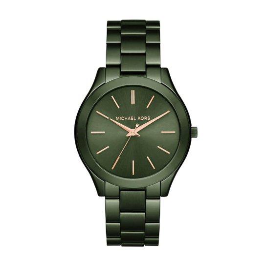 3f604b7059758 Relógio Michael Kors Feminino Slim Runway - MK3731 4VN MK3731 4VN - Verde