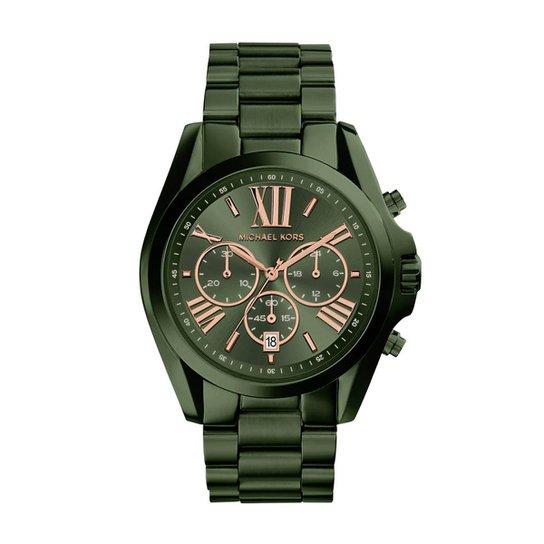 9e7d5139ee9 Relógio Michael Kors Feminino Bradshaw - MK6528 4VN MK6528 4VN - Verde