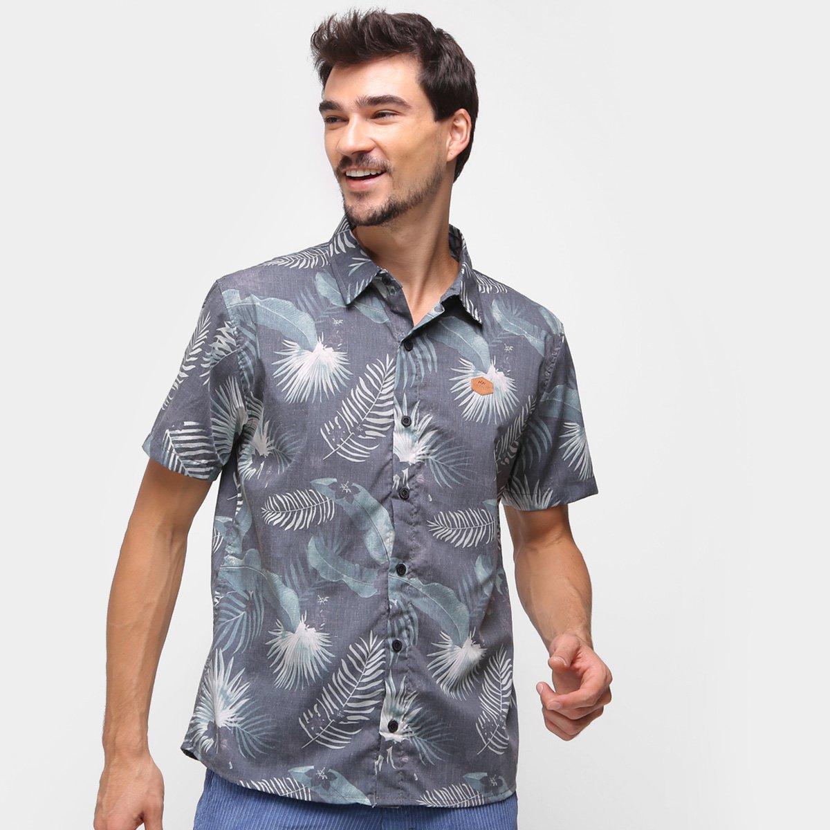 Camisa Natural Art Jungle Masculina