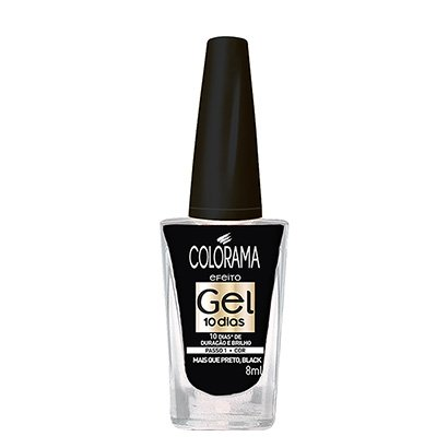 Esmalte Cremoso Colorama Gel Mais que Preto, Black