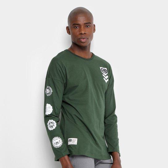 38b0321c581 Camiseta Ecko Manga Longa Estampada Masculina - Verde - Compre Agora ...