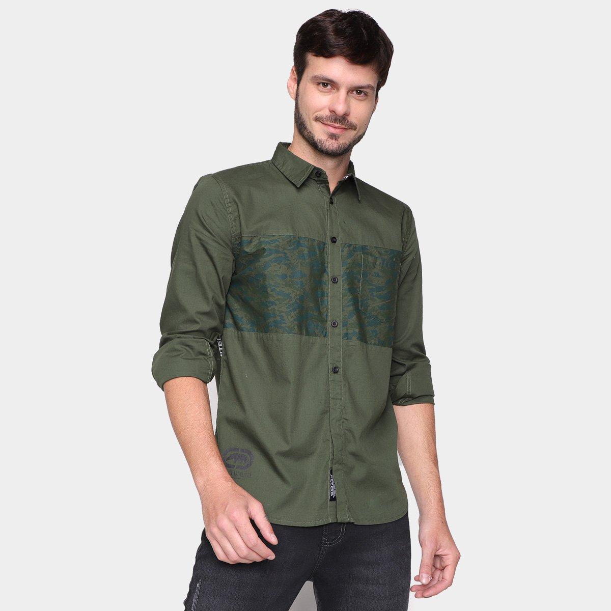 Camisa Ecko Recorte Camuflado Masculina