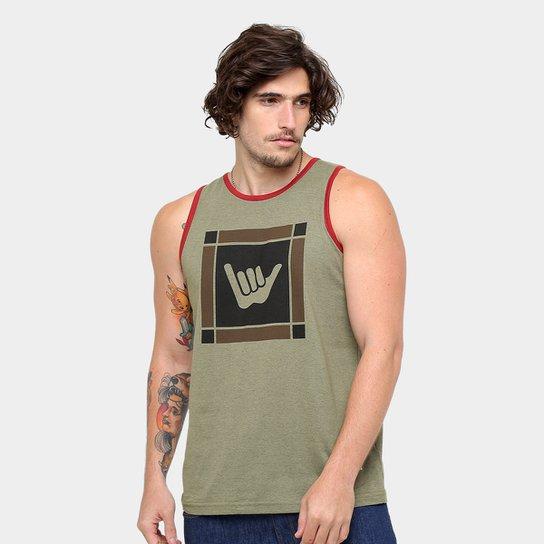 9ccece5d48 Regata Hang Loose Silk Original Masculina - Verde Militar