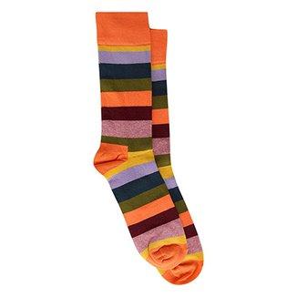 a8cff1b8e Meia 3 4 Happy Socks Stripe Masculino