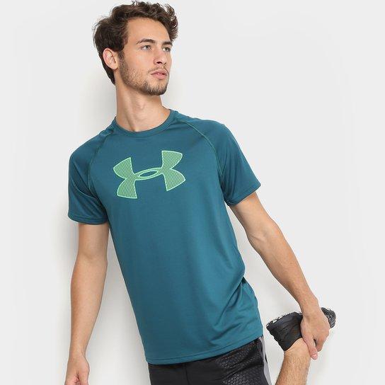 8837d6340f9 Camiseta Under Armour Big Logo Masculina - Verde - Compre Agora ...