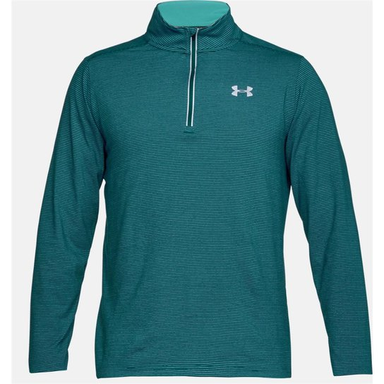 669089f31f369 Blusão Under Armour Threadborne Streaker 1 4 Zip Masculina - Verde ...