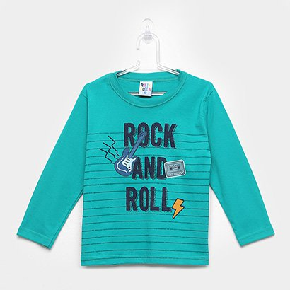 Camiseta Infantil Pulla Bulla Manga Longa Masculina