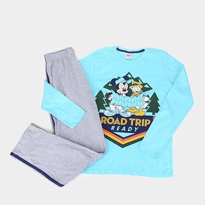 Pijama Juvenil Evanilda Longo Disney Mickey Masculino