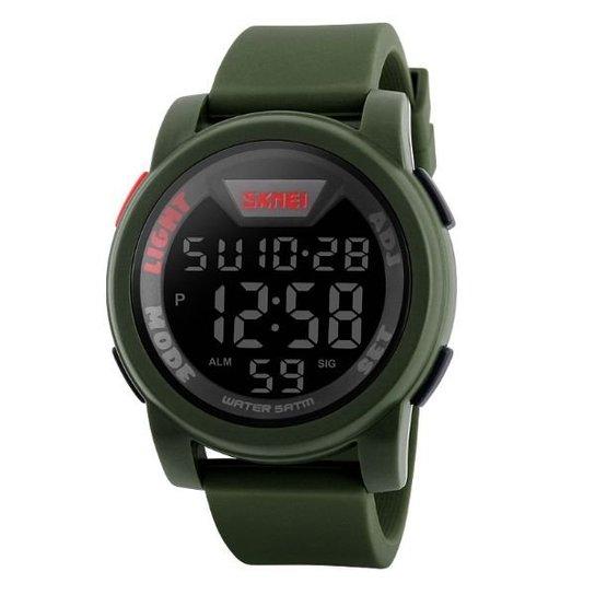 04e2938c718 Relógio Masculino Skmei Digital 1218 VD - Verde - Compre Agora ...