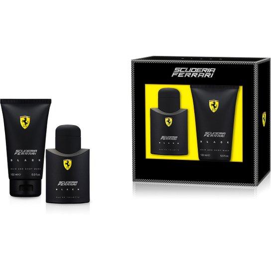 79af58dff Ferrari Kit Perfume Masculino Black EDT 75ml + Shower Gel 150ml - Incolor