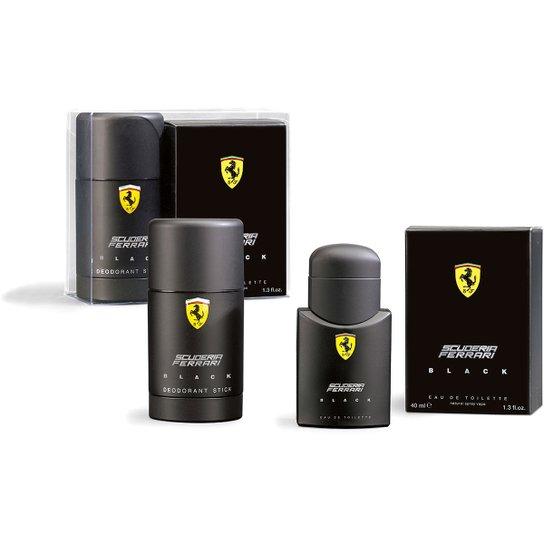 68ac27e5e Ferrari Kit Perfume Masculino Black EDT 40ml + Desodorante 75ml - Incolor