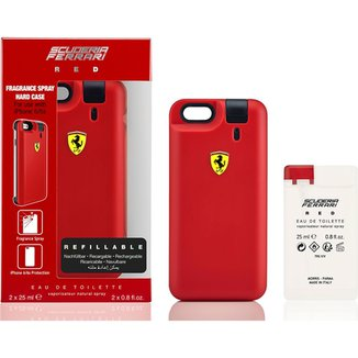 Kit Perfume Masculino Ferrari Red EDT com Iphone 6 6S Cover Red EDT 25ml + 955994d0d7c7c