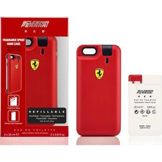 ef33e954ac Ferrari Kit Masculino Capa de Iphone 6/6S RED EDT 25ml + Refil 25ml