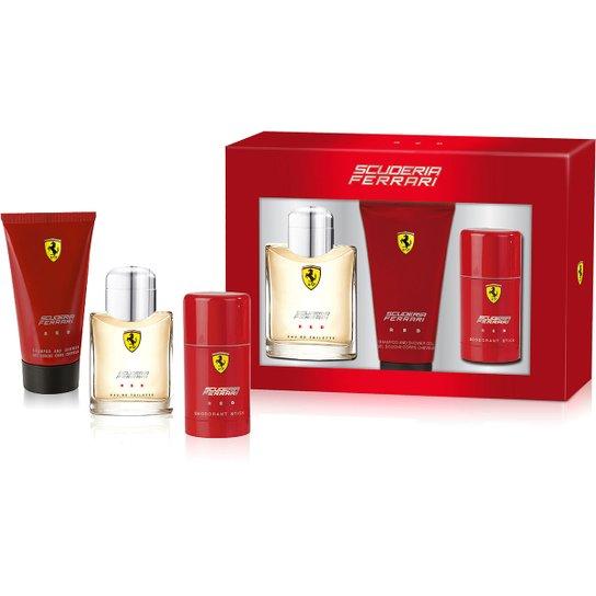 7d976813e5 Kit Perfume Masculino Ferrari Red EDT 125ml + Shower Gel 150ml +  Desodorante 75ml - Incolor