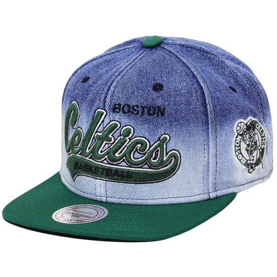 Boné Mitchell   Ness Aba Reta Snapback Nba Celtics - Compre Agora ... d4bd8670085