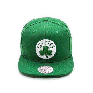 Boné Mitchell   Ness Solid NBA Boston Celtics Aba Reta de0d58d7f85