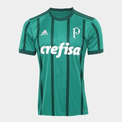 52da91106 Camisa Palmeiras I 17 18 s nº Torcedor Adidas Masculina