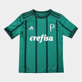 b4ea9b2407 Camisa Palmeiras Infantil I 17 18 s nº Torcedor Adidas