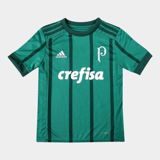 Camisa Palmeiras Infantil I 17 18 s nº Torcedor Adidas - Verde ... e5fc39b42242e